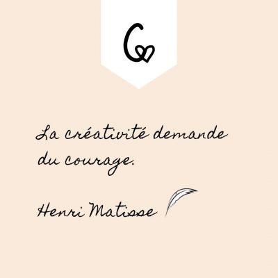 Citation Henri MATISSE