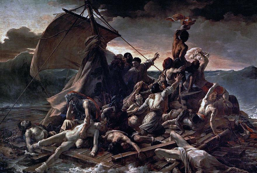 Le radeau de la méduse de Théodore Géricault 1