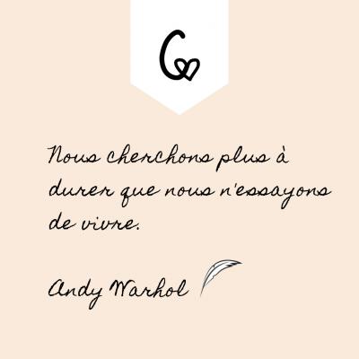 Citation Andy Warhol